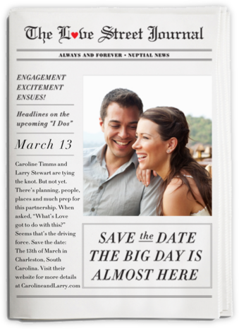 Nuptial News and Report - Cheree Berry - Photo save the dates