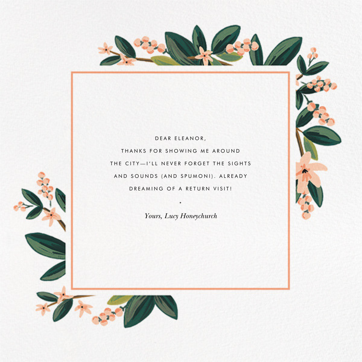 November Herbarium (Square) - Rifle Paper Co. - Online greeting cards