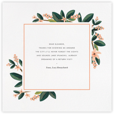 November Herbarium (Square) - Rifle Paper Co. - Online Thank You Cards