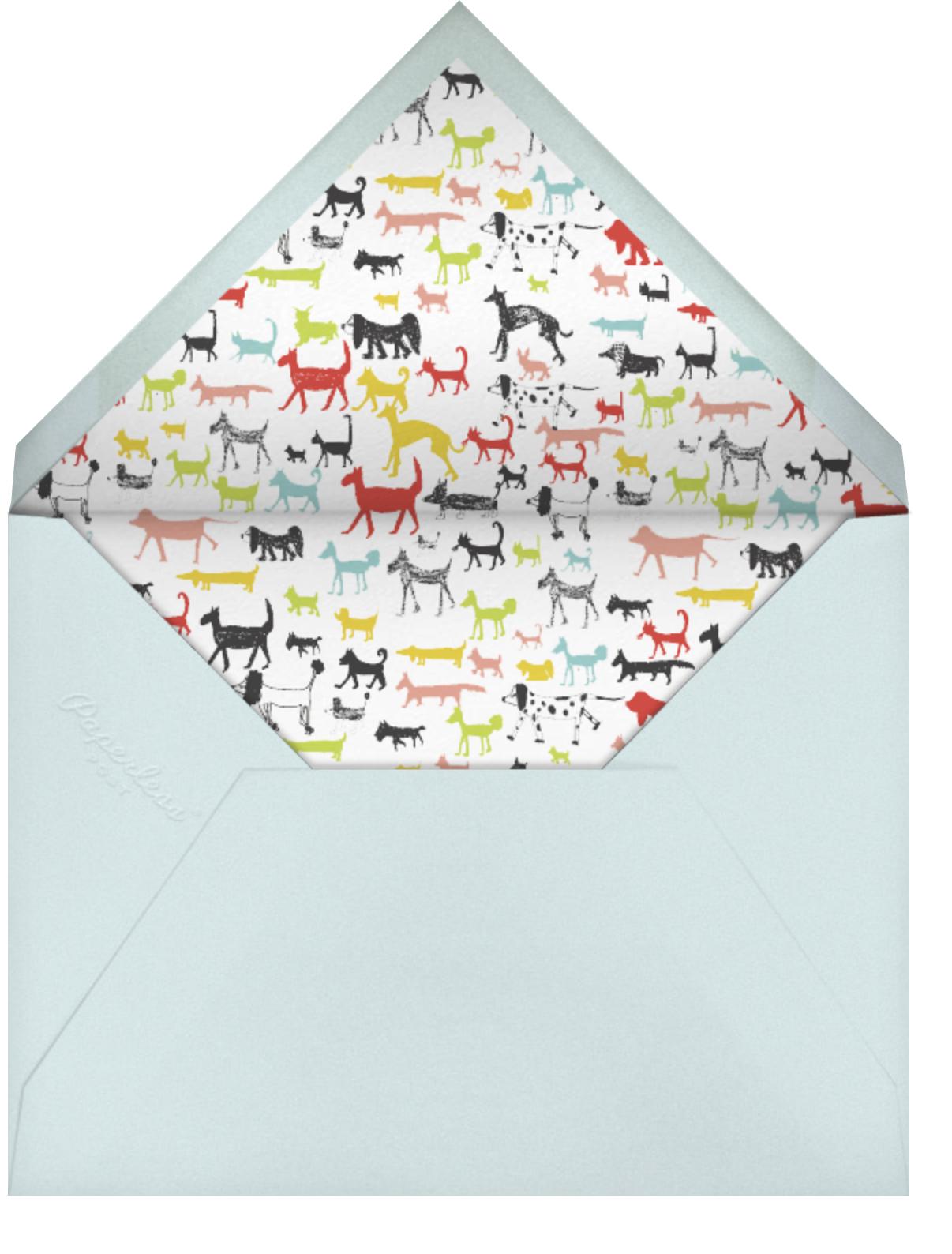 Calling all Dogs - Sri Lanka - Mr. Boddington's Studio - Kids' Birthday Invitations - envelope back
