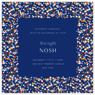 Tender Buttons - Indigo - Anthropologie - Hanukkah Invitations