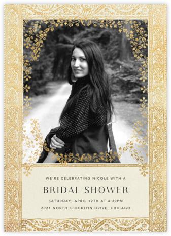 Gilt Toran - Cream - Anthropologie - Bridal shower invitations