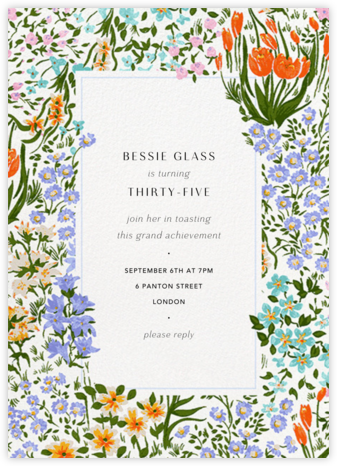 Moor Heather (Tall) - Anthropologie - Adult Birthday Invitations