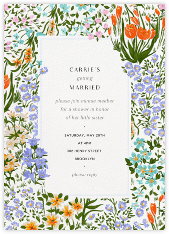 Moor Heather (Tall) - Anthropologie - Bridal shower invitations