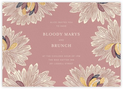 Mumsy - Tea Rose - Anthropologie - Brunch invitations