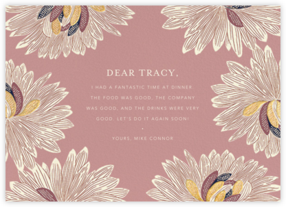 Mumsy - Tea Rose - Anthropologie - Online Thank You Cards