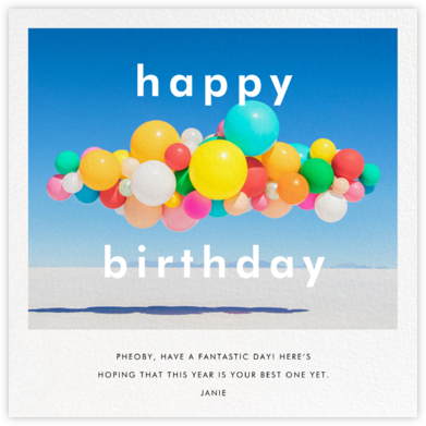 Balloon Airlift (Square) - Gray Malin - Greeting cards