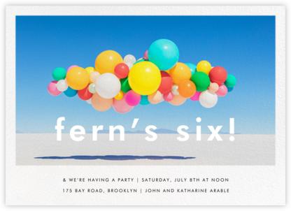 Balloon Airlift (Horizontal) - Gray Malin - Online Kids' Birthday Invitations