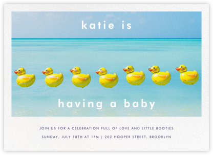 Duck Balloons - Gray Malin - Baby Shower Invitations