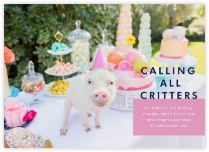 Piggy Picnic - Gray Malin - First Birthday Invitations