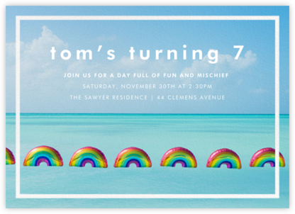 Rainbow Balloons - Gray Malin - Gray Malin invitations