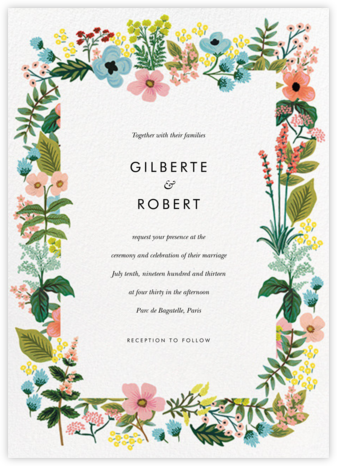 Spring Gathering (Invitation) - White - Rifle Paper Co. - Rifle Paper Co. Wedding