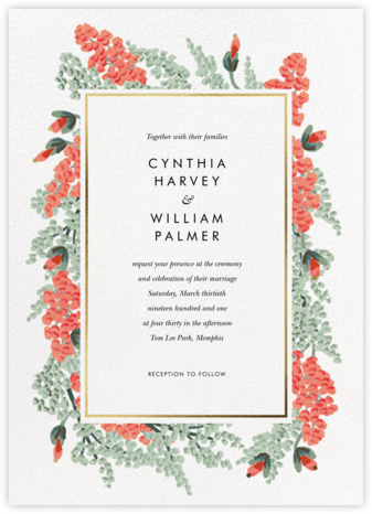 Amaranth Garland (Invitation) - Rifle Paper Co. - Wedding Invitations