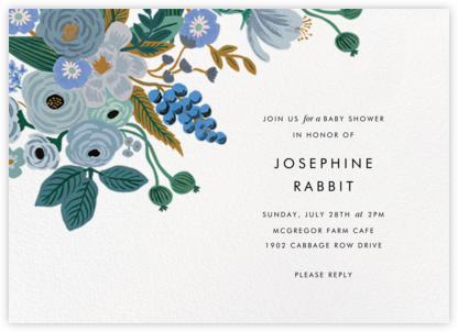Autumn Knoll - Rifle Paper Co. - Online Baby Shower Invitations