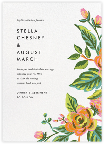 Rainbow Rose (Invitation) - Rifle Paper Co. - Rifle Paper Co. Wedding