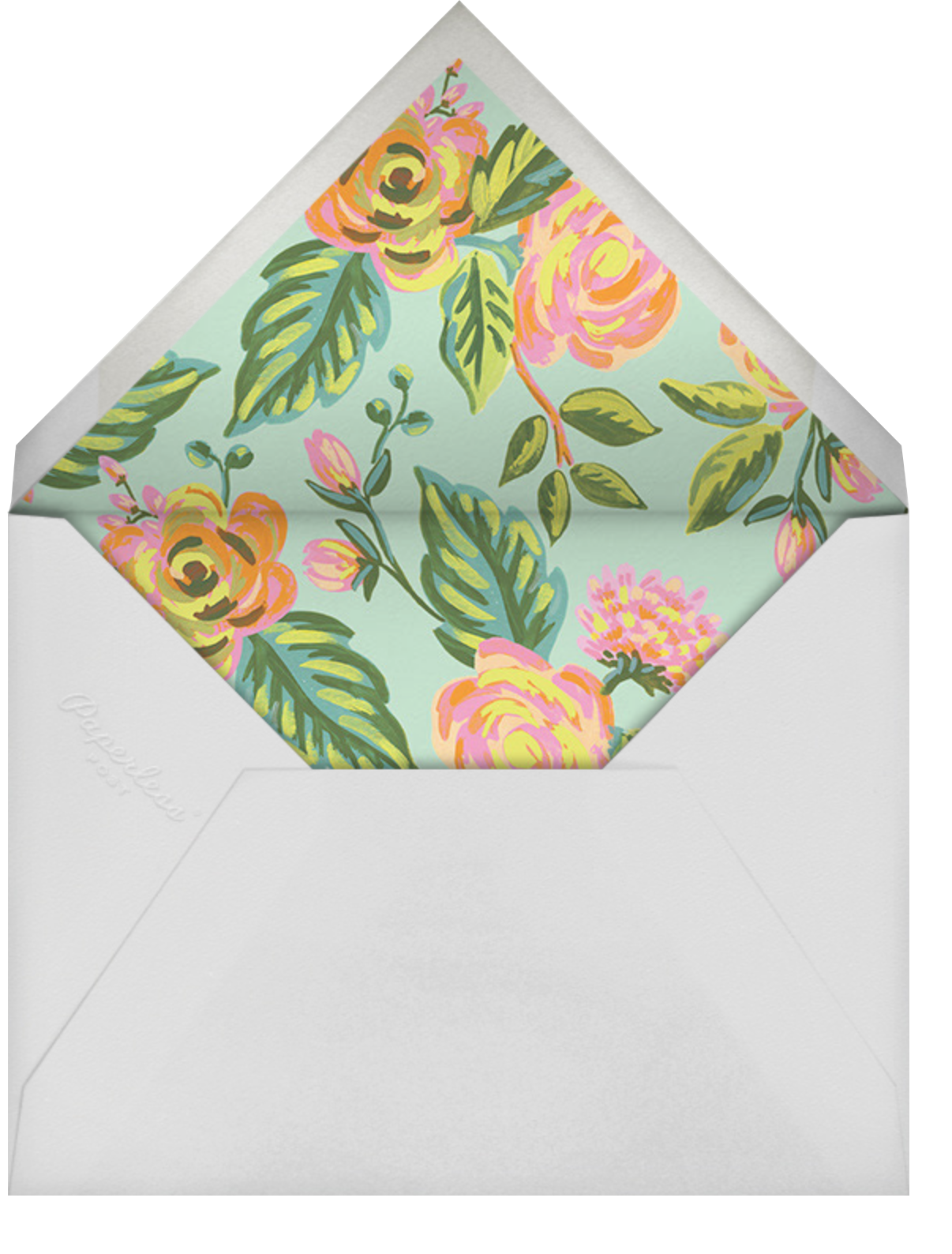 Rainbow Rose (Invitation) - Rifle Paper Co. - All - envelope back