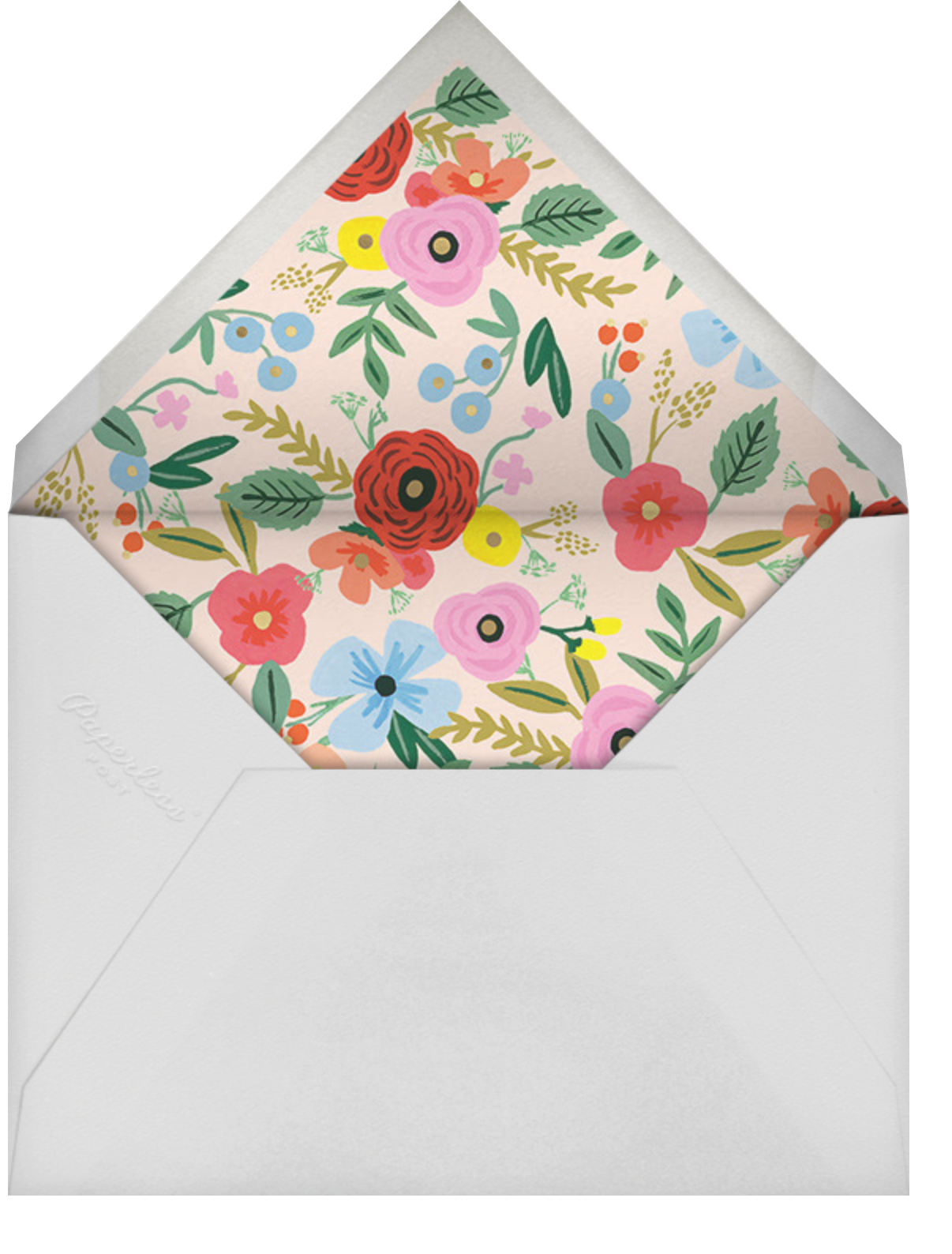 Stitched Bouquet - Rifle Paper Co. - Adult birthday - envelope back