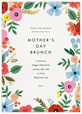 Stitched Bouquet - Rifle Paper Co. - Online Mother's Day invitations