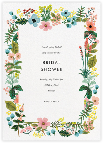 Spring Gathering - White - Rifle Paper Co. - Bridal shower invitations