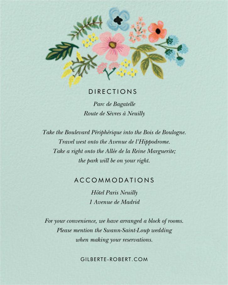 Spring Gathering (Invitation) - White - Rifle Paper Co. - All - insert front