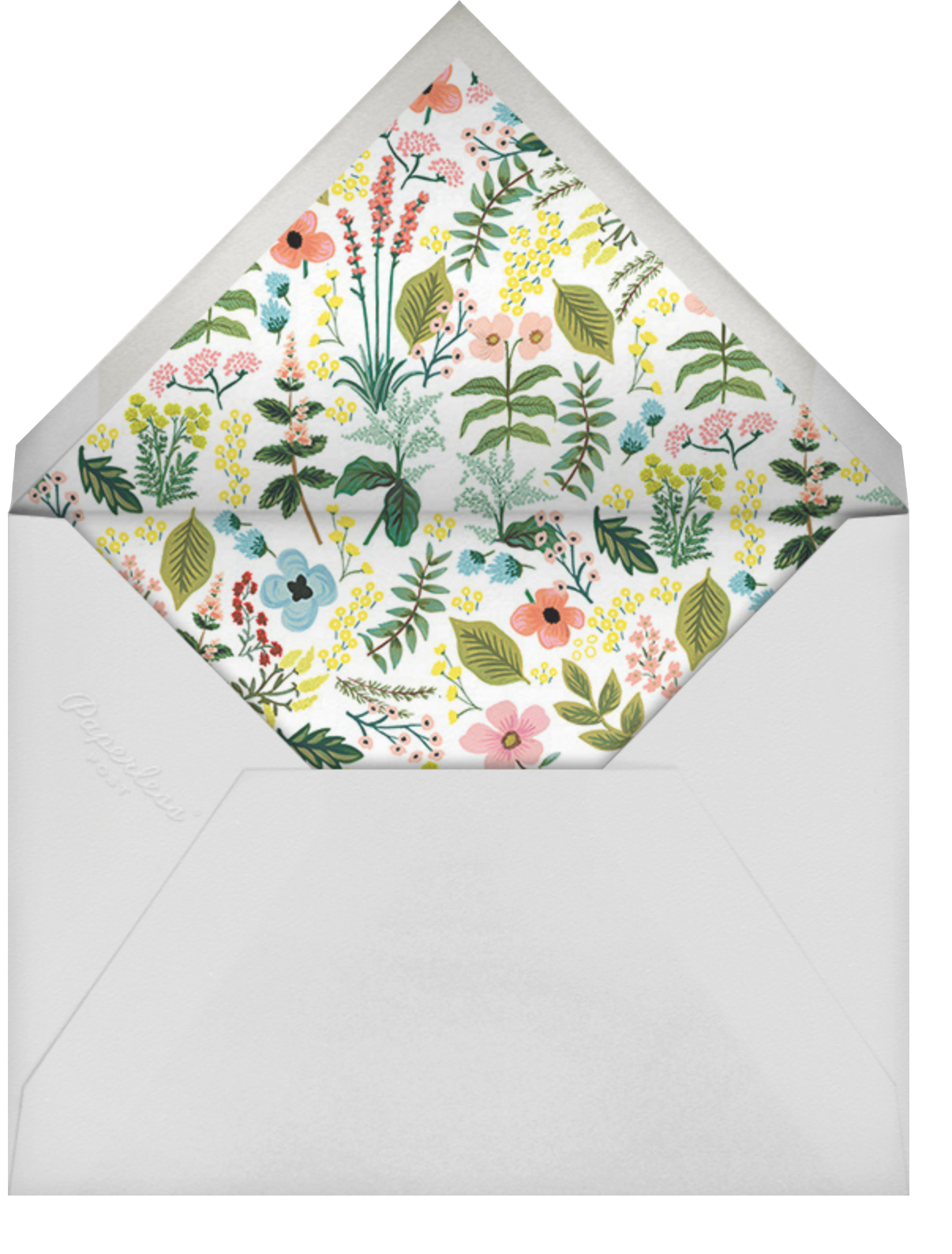 Spring Gathering - White - Rifle Paper Co. - Bat and bar mitzvah - envelope back