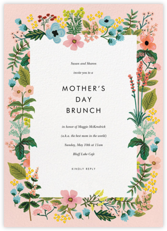 Spring Gathering - Meringue - Rifle Paper Co. - Online Mother's Day invitations