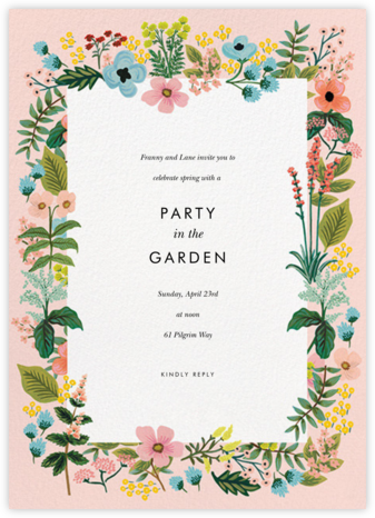 Spring Gathering - Meringue - Rifle Paper Co. - General Entertaining Invitations