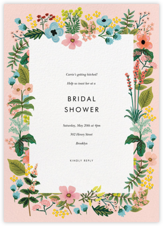 Spring Gathering - Meringue - Rifle Paper Co. - Bridal shower invitations