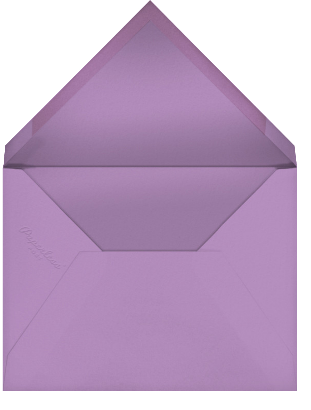Crete (Light Purple) - Paperless Post - Envelope