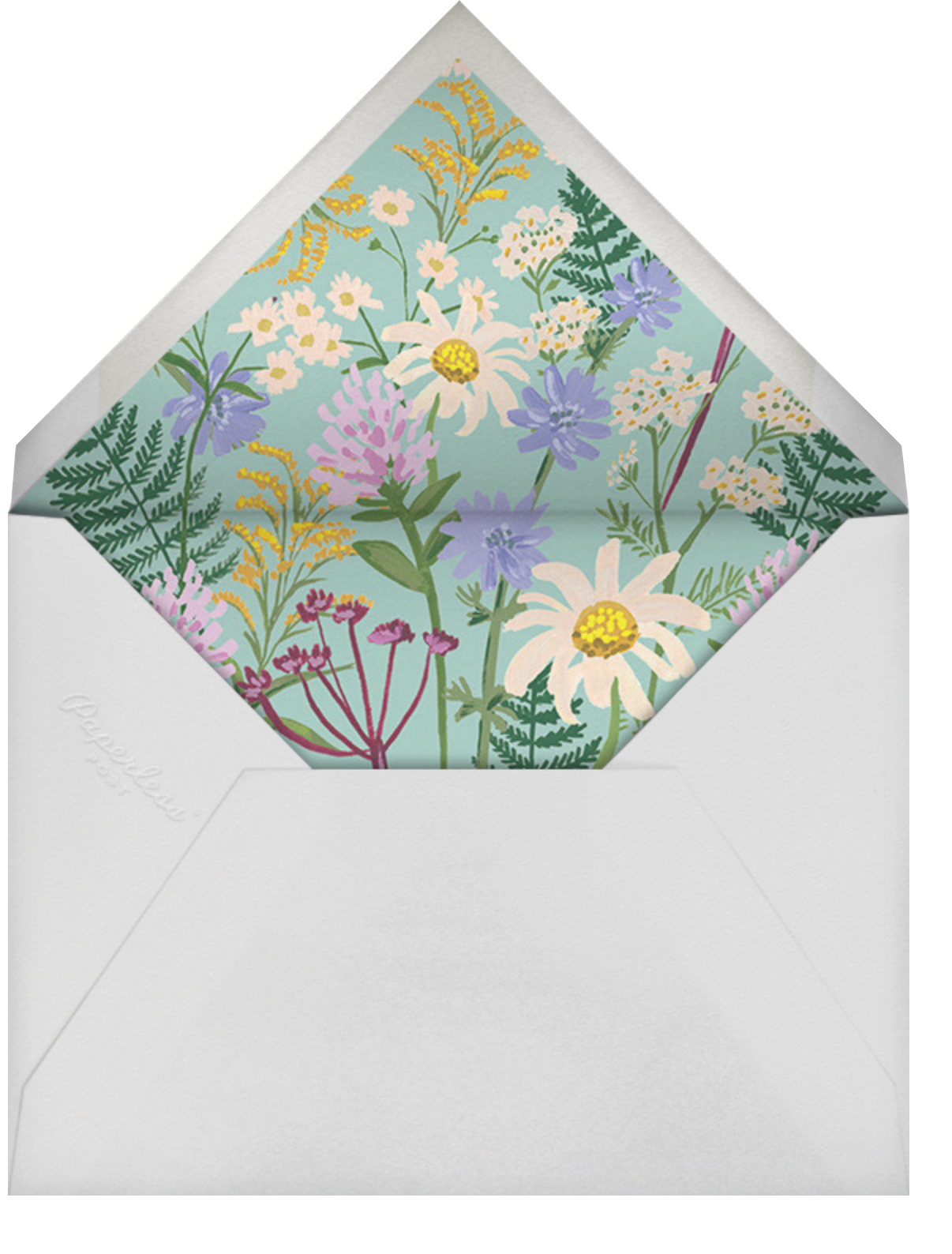 Summer Fronds  - Rifle Paper Co. - Baby shower - envelope back