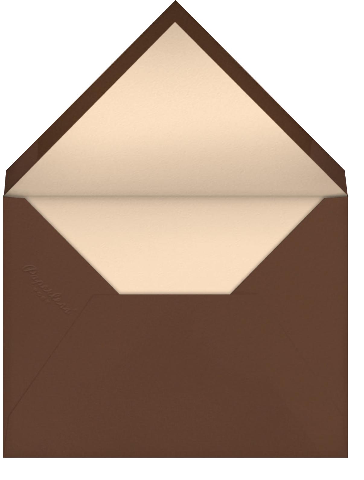 Oblong (Dark Tan) - Paperless Post - Envelope