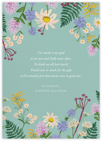Summer Fronds - Rifle Paper Co. - Online Thank You Cards