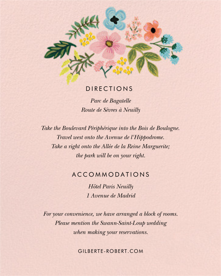 Spring Gathering (Invitation) - Meringue - Rifle Paper Co. - All - insert front