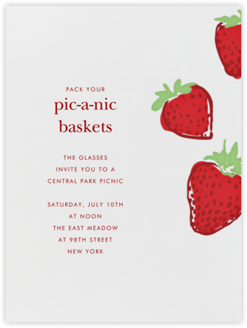 Strawberries - Paperless Post - Invitations