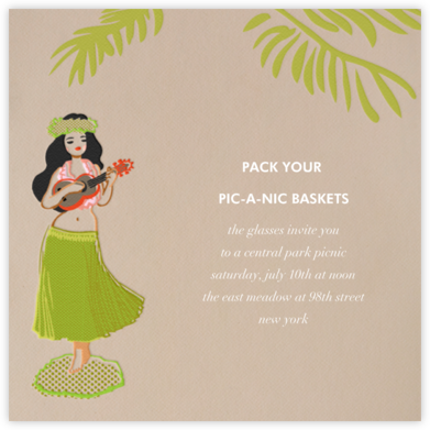 Hula Doll - Paperless Post - Summer entertaining invitations