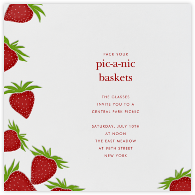 Strawberries (Square) - Paperless Post - Summer entertaining invitations