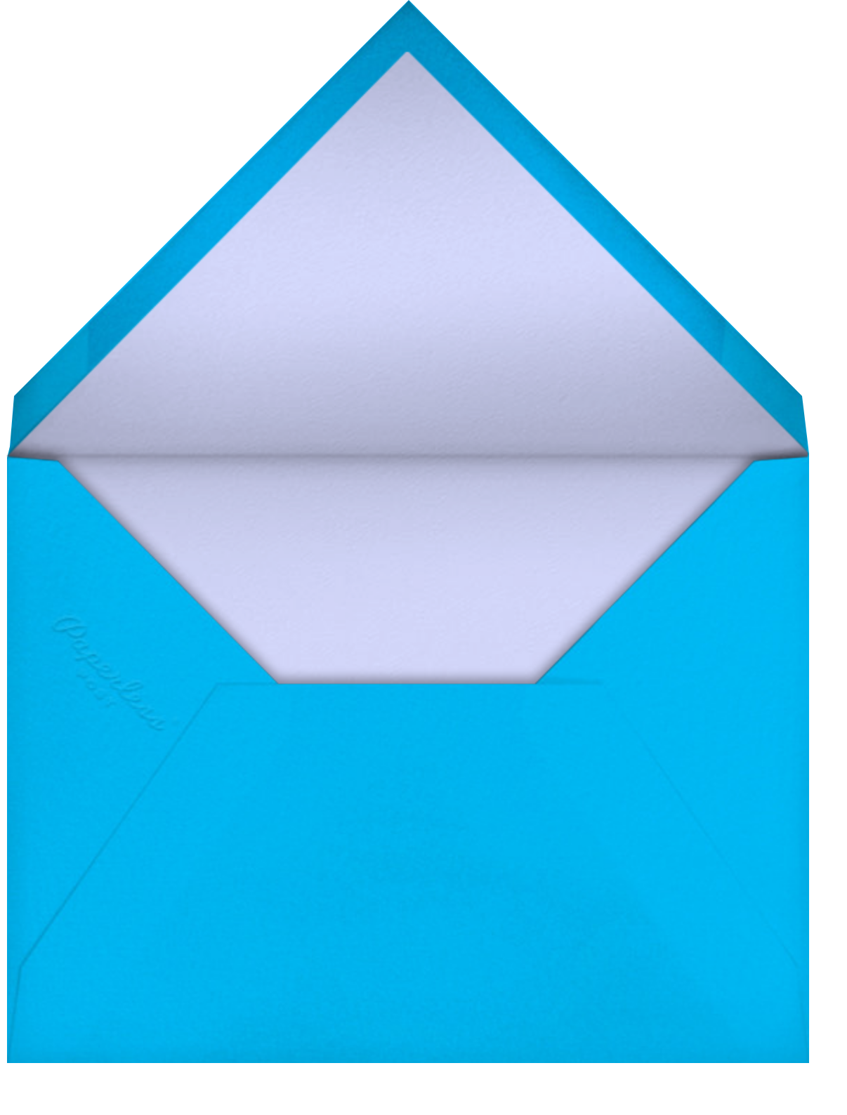 Gradient Painted - Blue - Paperless Post - Barbecue - envelope back