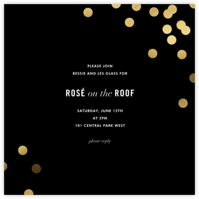 Confetti (Square) - Black - kate spade new york - Winter entertaining invitations