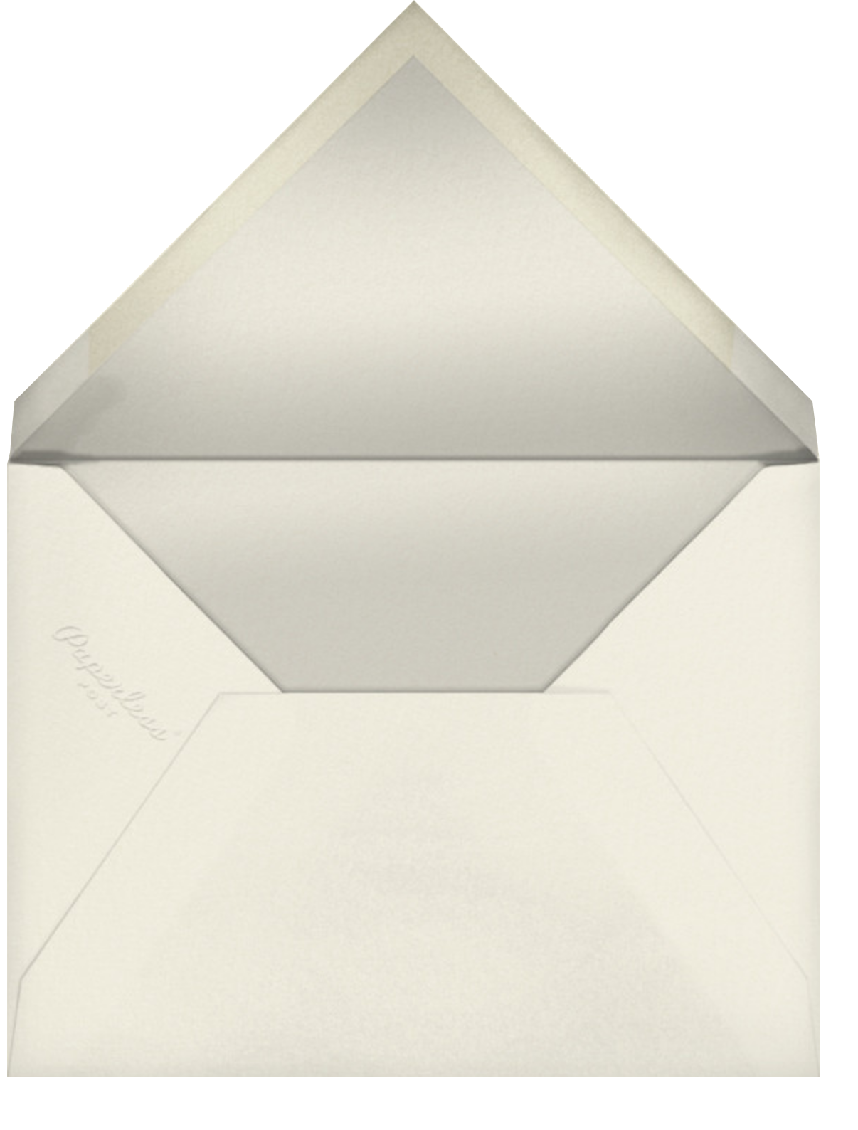 Cream (Tall) - Paperless Post - Anniversary party - envelope back