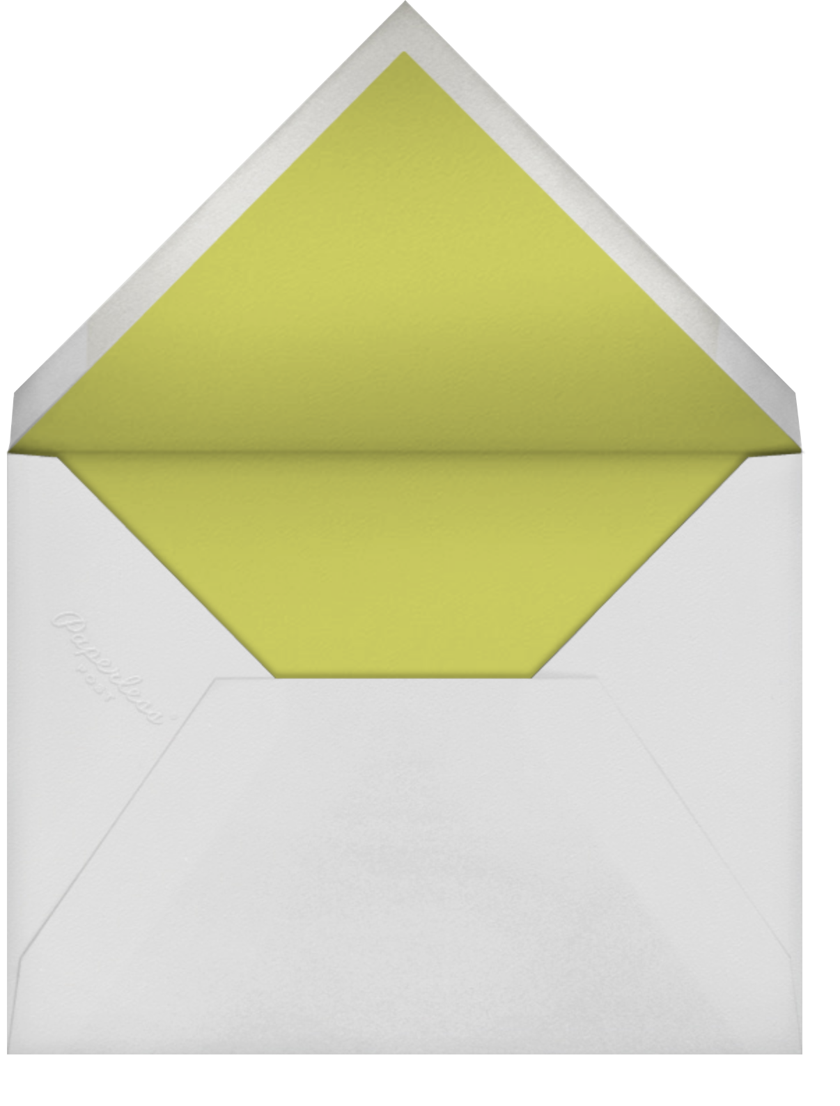 Veda - Green Gold Olive - Paperless Post - Envelope