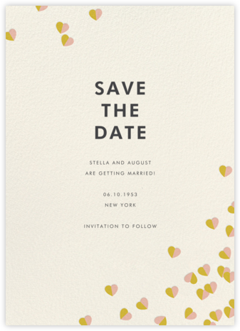 Better Halves - Pink/Paella - kate spade new york - Save the dates