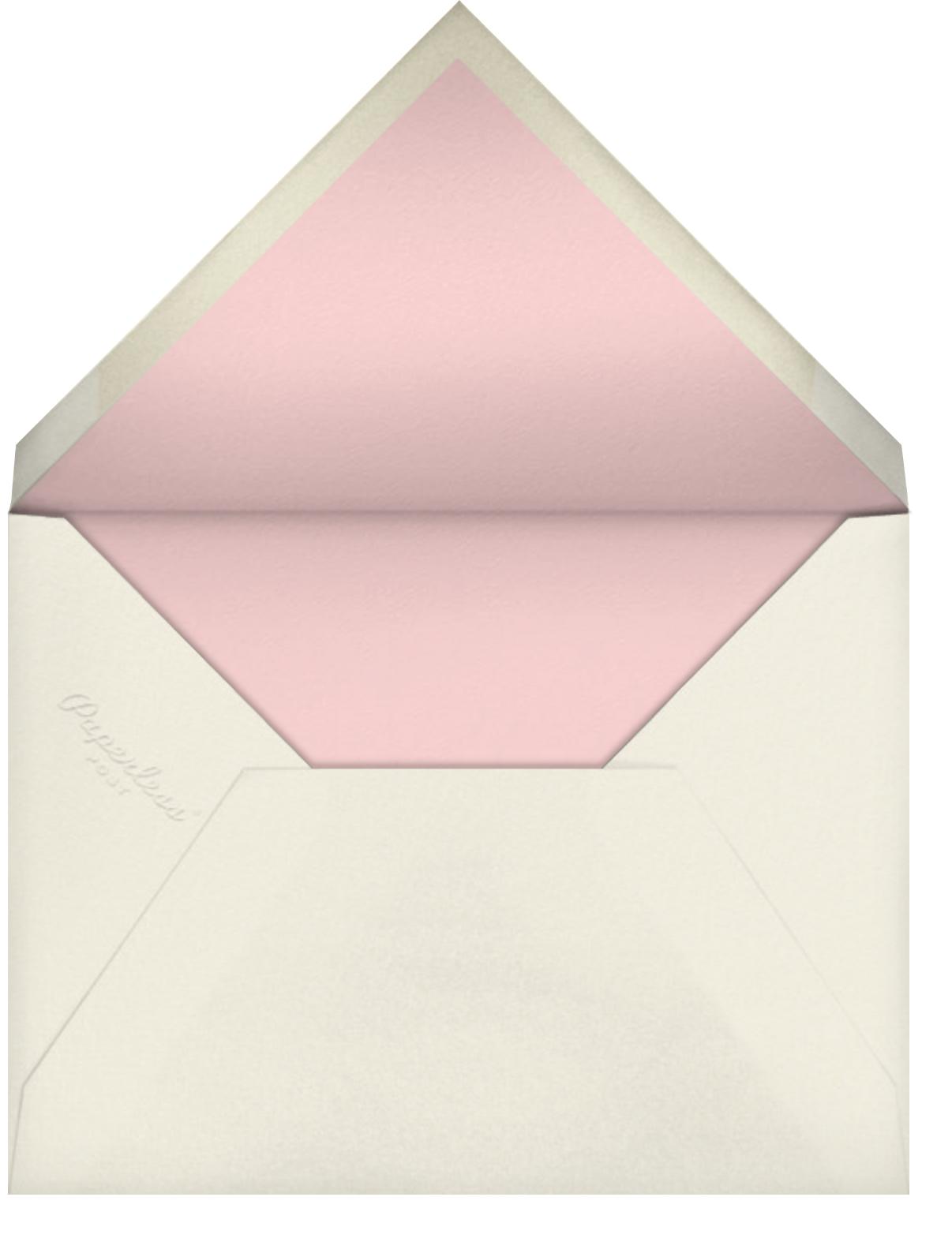 Better Halves - Pink/Paella - kate spade new york - Bridal shower - envelope back