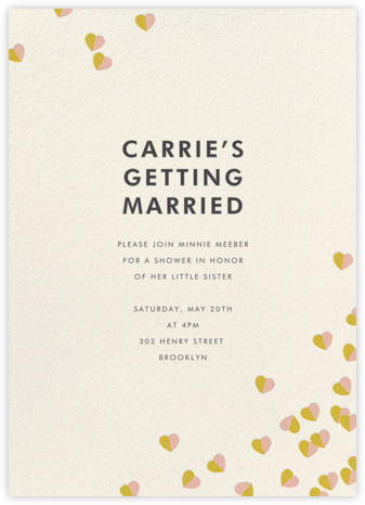 Better Halves - Pink/Paella - kate spade new york - Bridal shower invitations