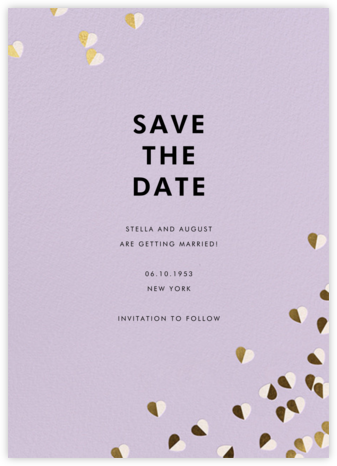 Better Halves - Lilac - kate spade new york - Save the dates