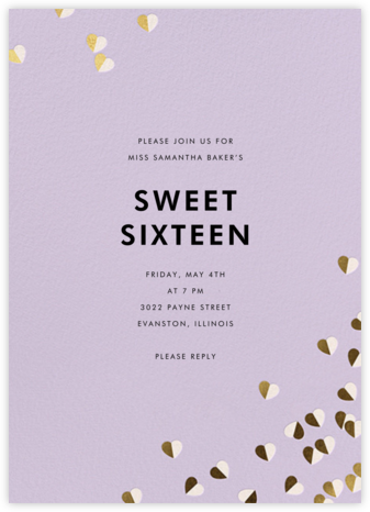 Better Halves - Lilac - kate spade new york - Sweet 16 invitations