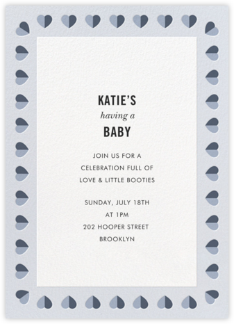 Better Halves Border - Blue - kate spade new york - Baby Shower Invitations