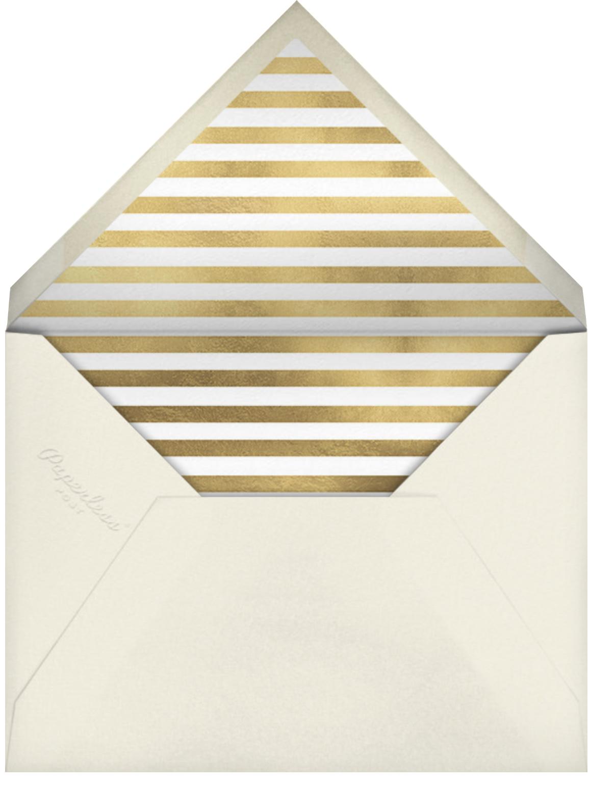 Better Halves Border - Caviar - kate spade new york - Anniversary party - envelope back