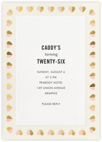 Better Halves Border - Cream - kate spade new york - Adult Birthday Invitations