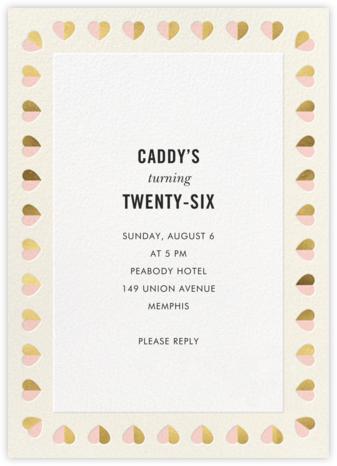 Better Halves Border - Cream - kate spade new york - Adult Birthday Invitations