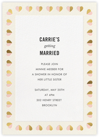 Better Halves Border - Cream - kate spade new york - Bridal shower invitations
